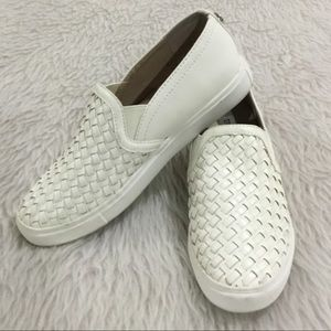 Steve Madden white slip on sneakers